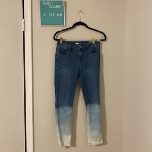3for$20 super skinny mid-rise ombré jeans